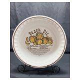 Hancook Ceramic Peach Pie Pan