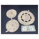 3 Seashell Trivets, Decor
