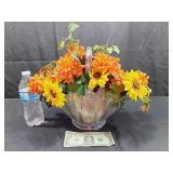 Lovely Glass Basket Fall Arrangement