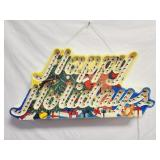 Happy Holidays Lighted Sign 23 x 12