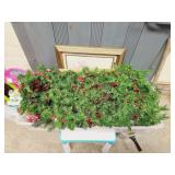 Large Tote Of Craft & Greenery Pieces See Pics