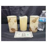 3 Battery Operated Candles Untested
