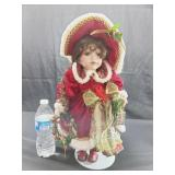 Porcelain Holiday Doll