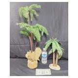 Tin & Plastic Palm Trees