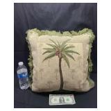 Palm Tree Throw Pillow New