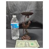 Metal Rooster Candle Holder