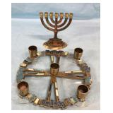Jewish Menorah, 5 Candle Advent Isreal Lot