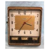 Lux 1950s Industrial Metal Clock WORKS
