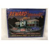 NEW Reward Yourself Diner Metal Sign 12 x 15