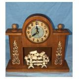 United Fireplace Mantle Clock