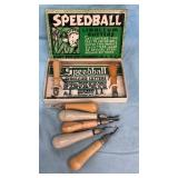 Vintage Speedball Linoleum Cutters in Box