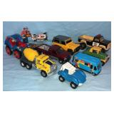 9pc Die Cast, Metal Trucks, Jeep, etc