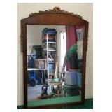 Antique Ornate Wooden Mirror