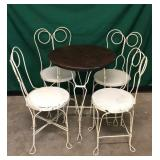 1950s Ice Cream Parlor Set w/ 4 Chairs
