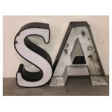 "16"" Letter ""S"" and ""A"" Advertising"