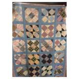 "Antique Hand Stitched Quilt 82"" x 68"""