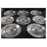 8 Diana Pattern Glass Dinner Plates