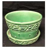 McCoy Pottery Greek Key Planter
