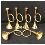 6 Brass Trumpets Horns