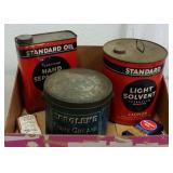 PETROLIANA - VINTAGE STANARD OIL & ZEROLENE TINS