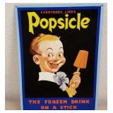 REPRODUCTION 1932 POPSICLE METAL ADVERTISING SIGN