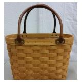 2001 LONGABERGER MEDIUM BOARDWALK BASKET W/ LINER