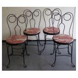 (4)  ICE CREAM PARLOR STYLE / BISTRO CHAIRS