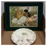 PLACEMATS & 1936 ROYAL DALTON DIVIDED CHILD PLATE