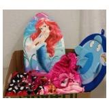 MINNIE & BARBIE SWIMSUITS & ARIEL FLOAT