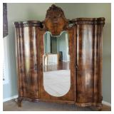 VICTORIAN ERA 3-DOOR ARMOIRE