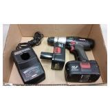 19.2v CRAFTSMAN 1/2in DRILL, (2) BATTERY & CHARGER