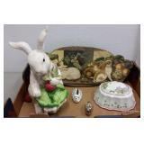 RABBIT FIGURINE, PLAQUE & PAPERWEIGHTS