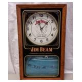 JIM BEAM KENTUCKY STRAIGHT BOURON WHISKEY CLOCK