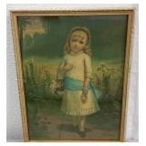 "VINTAGE ""LITTLE DAISY"" LITHOGRAPH"