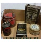 PETROLIANA - VINTAGE OIL & GREASE TINS