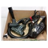 DIRT DEVIL SCORPIO PORTABLE VACUUM W/ ATTACHMENTS