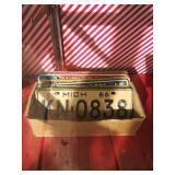 Vintage michigan plates