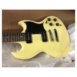 Jay Turser JT-55P Ivory Electric Guitar SG style