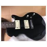 Les Paul canvas black electric guitar