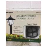 Solar Powered Garden Light -4 lights to a package
