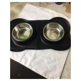 Silicone Mat Dog Bowl Feeder-Black