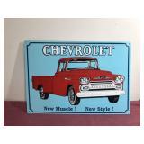 "Chevrolet Tin Sign 12""x17"""