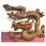 "15""x16"" oriental dragon art piece-has been"