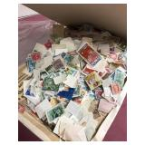 Envelope full of various foreign stamps