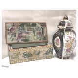 Two porcelain oriental pieces