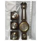 Set of Springfield barometers