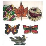 Lot of Stainglass window hangings – the butterfly