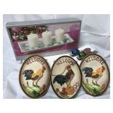 Kitchen decorative wall hangings, candlescape set