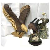 Lot of eagles, wall hanging and statues