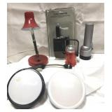 Lot of lights, a lamp and a 12 V adapter-sealed